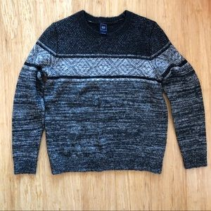 3 for $25 GAP Gray Knit Striped Warm Cosy Sweater